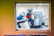 Sala de tomografía para detectar el coronavirus en el Hospital General Ajusco Medio en Ciudad de México.