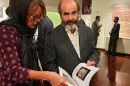Jorge Soler en la exposición del Marq en Teherán.