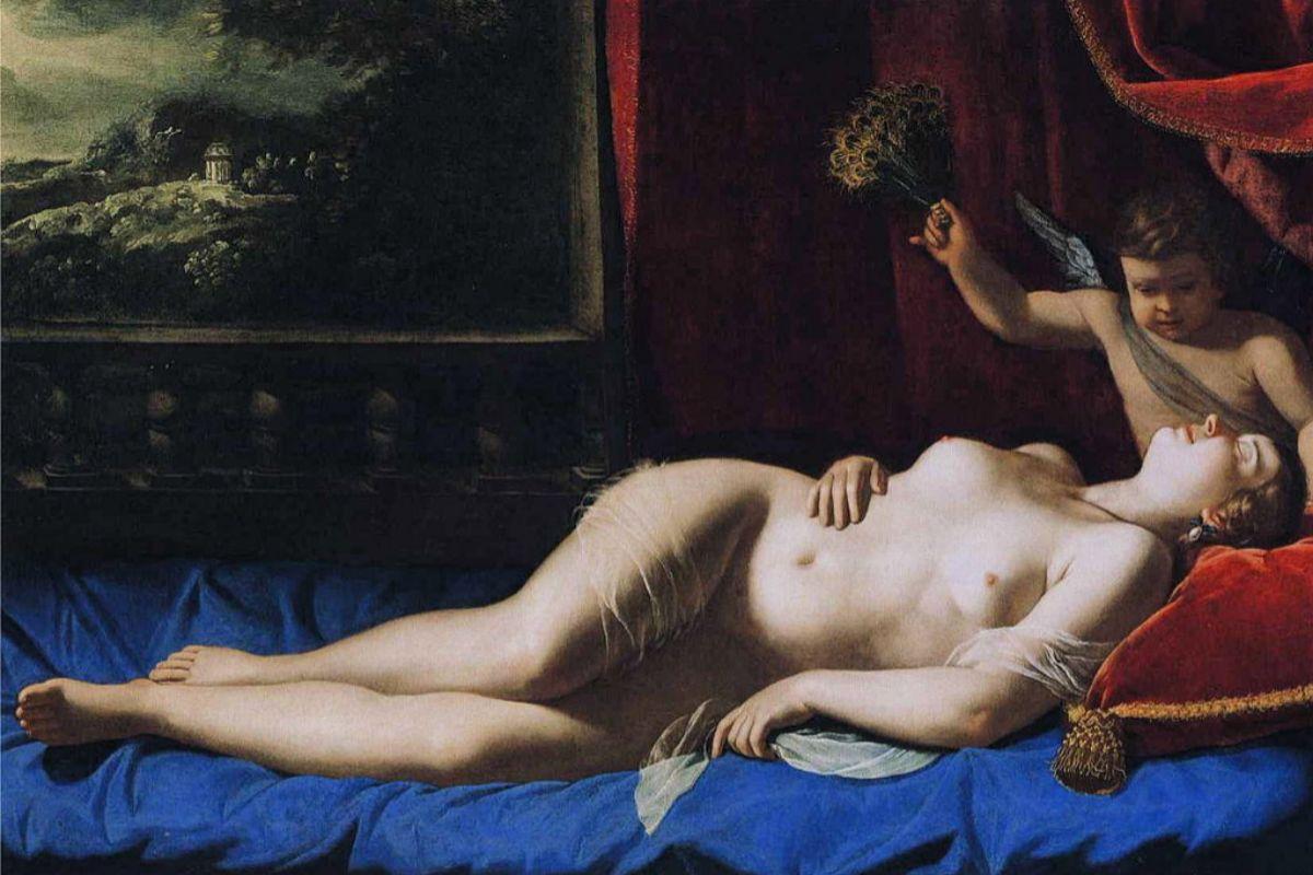 Venus y Cupido, de Artemisia Gentileschi.