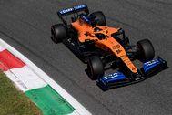 Sainz, durante la tercera sesión libre en Monza.