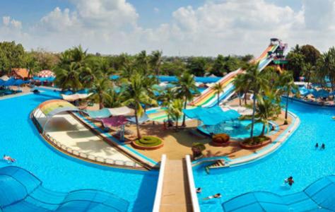 Vista de Siam Park, en Costa Adeje.