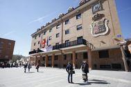 Fachada del Ayuntamiento de Móstoles.