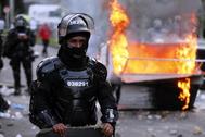 Disturbios en Bogotá tras la muerte de un hombre a manos de la Policía.