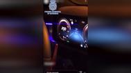 Detenido tras publicar un vídeo en el que conducía bailando a más de 200 km/h