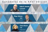 Los tres premiados de la XXVI edición del Premio Salvador de Madariaga.
