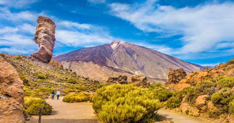 El Parque del Teide en Tenerife.