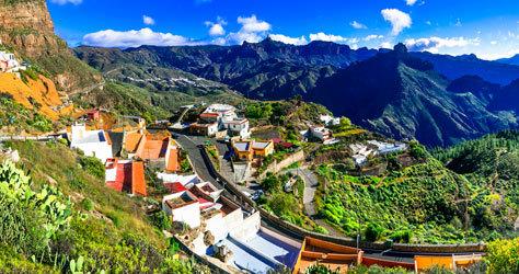 El pueblo de Artenara, en Gran Canaria.