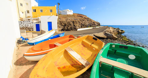 Puerto pesquero de Fuerteventura.