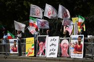 Manifestación contra las autoridades iraníes en Londres.