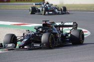 Hamilton, por delante de Bottas, el domingo en Mugello.