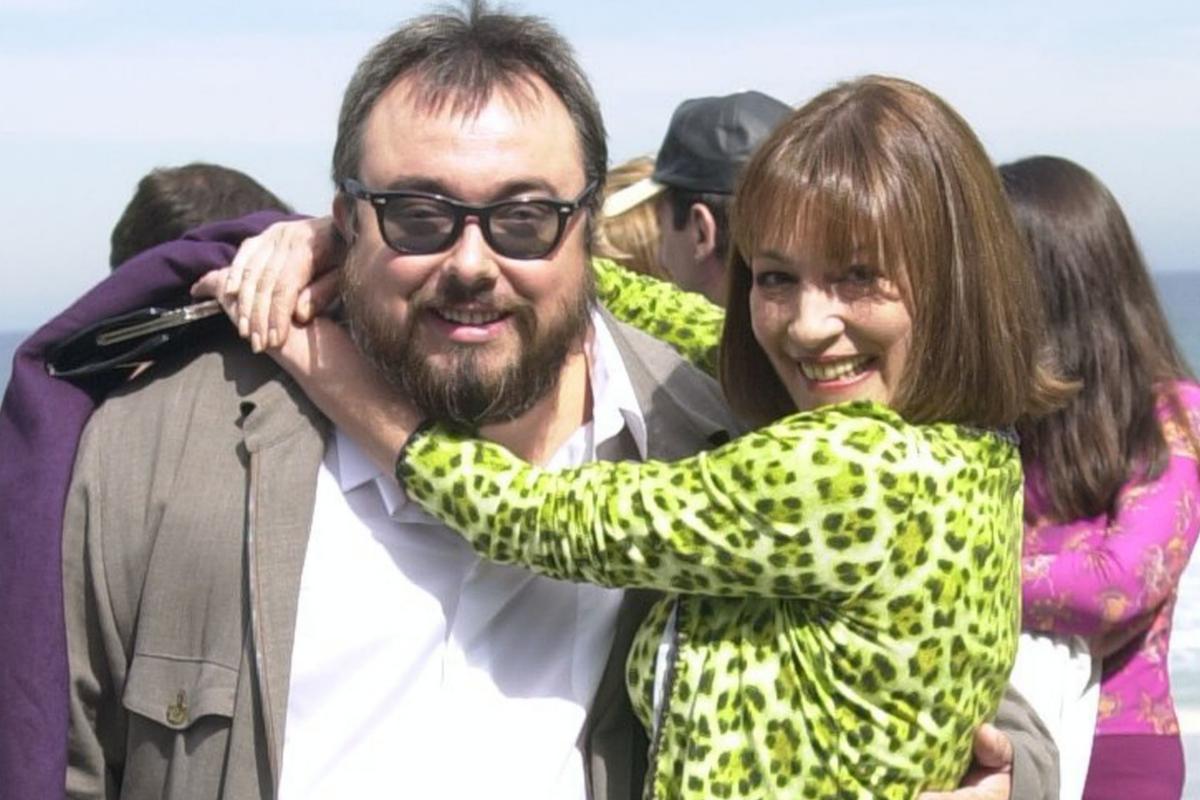 Con Álex de la Iglesia en el Festival de San Sebastián en 2000.