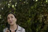 La ex rehén de la guerrilla de las FARC Ingrid Betancourt.