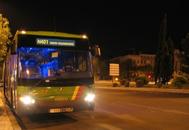 Un autobús de la línea nocturno 401. Foto: Consejería de Transportes, movilidad e infraestructuras de la Comunidad de Madrid.
