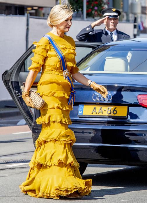 Máxima de Holada durante el Prinsjesdag, con vestido de Claes Iversen.