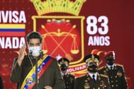 Nicolás Maduro en el aniversario de la Guardia Nacional Bolivariana.