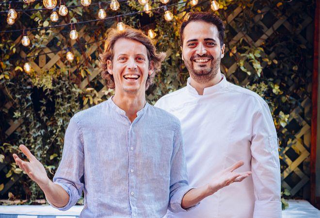 Tigrane Seydoux, junto con el chef Ciro Cristiano.