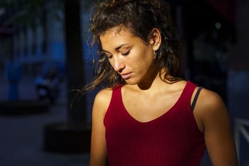 Natalia de Agustín, de 18 años, en una imagen tomada la pasada semana.