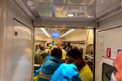 Imágenes del interior del tren accidentado.
