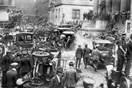 Los escombros del atentado de Wall Street