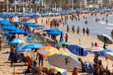 Vista de la playa de Levante, Benidorm, esta semana.