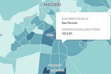 Estas son las Zonas Básicas de Salud más afectadas por el Covid en la Comunidad