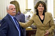 El fiscal Luis Navajas y la FGE, Dolores Delgado