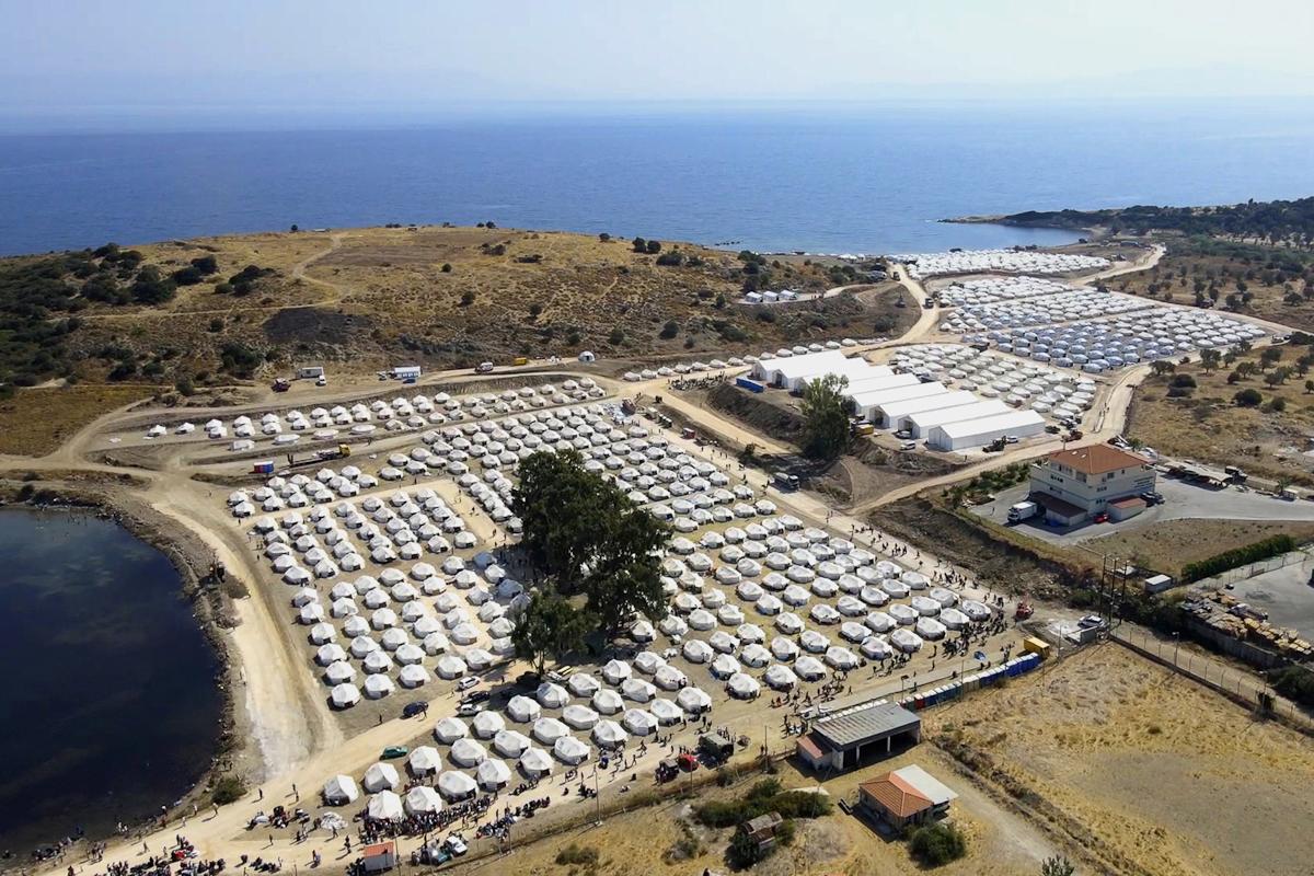 El campo de Kara Tepe (Lesbos).