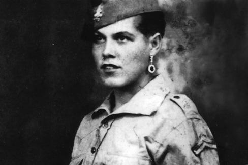 La cantinera Petra Pérez, alistada como Pedro Pérez en los años 20.