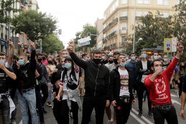Podemos y Más Madrid alientan las protestas contra las restricciones