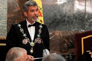 El presidente del CGPJ, Carlos Lesmes, en la Apertura del Año Judicial.
