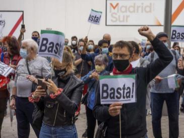 Protestas  en las calles afectadas alentadas por Podemos y Más Madrid con Monedero al frente