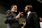 Mariano Rajoy y Pablo Casado en el acto de presentación del libro del primero de ellos, 'Una España mejor', el pasado mes de diciembre.
