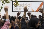 Protestas en Villa de Vallecas, contra las restricciones en Madrid