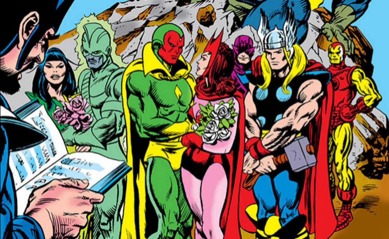 La Visión y La Bruja Escarlata se casaron en el 'Giant-Size Avengers #4' (1974).