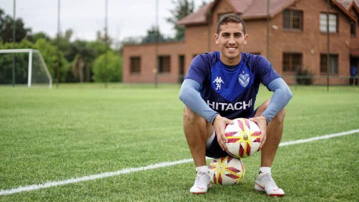Braian Cufré, durante un entrenamiento con Vélez.