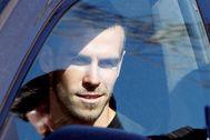 Gareth Bale, saliendo de las instalaciones del Tottenham.