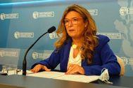 La consejera de Salud Gotzone Sagardui durante su primera rueda de prensa tras ser nombrada el pasado día 8 de septiembre.