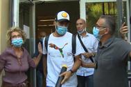 Luis Suárez sale de la Universidad para Extranjeros de Perugia el pasado jueves tras el examen de ciudadanía.