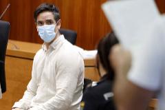 Rodrigo Lanza, durante el juicio celebrado en Zaragoza.