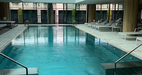 Interior del spa del Four Seasons Hotel Madrid.