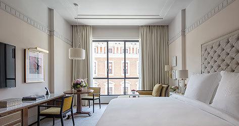 Four Seasons Hotel Madrid abrirá por el momento 57 de sus 200 habitaciones.