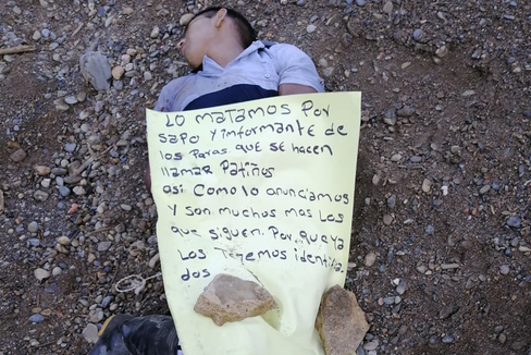 Una de las víctimas de las bandas criminales en Colombia.