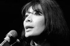 Juliette Greco, en 1968, actuando en París.