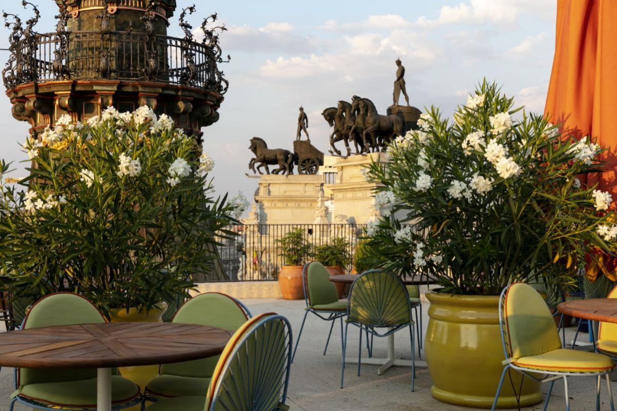La terraza de Dani ofrece unas espectaculares vistas de la ciudad.
