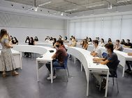 Alumnos de primer curso en la Semana de Bienvenida celebrada en los campus de Sevilla y Córdoba de la Universidad Loyola.