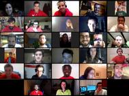 Captura de pantalla en una videoconferencia multitudinaria