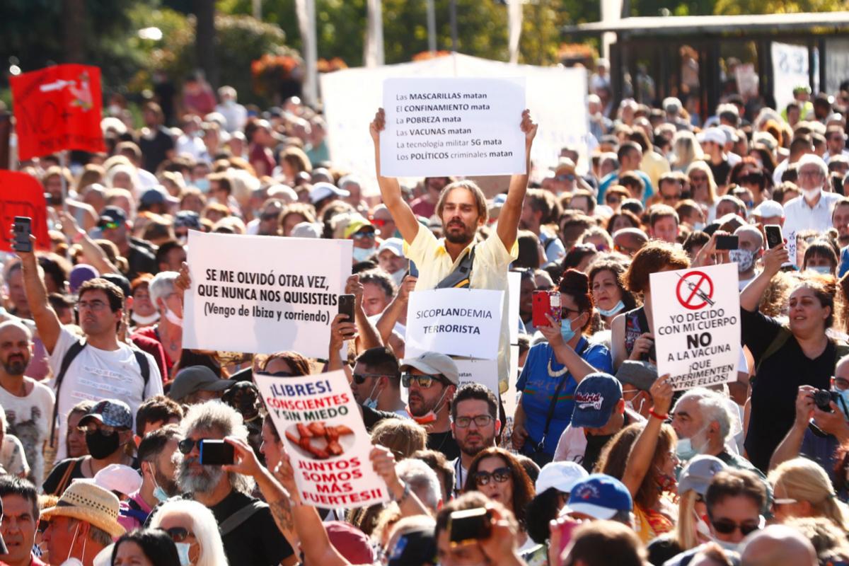Delegación de Gobierno prohíbe a los anti mascarillas volver a manifestarse este sábado
