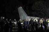 Restos del Antonov militar estrellado este viernes en Ucrania.