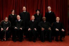 Los miembros del Supremo, antes de morir Ginsburg.