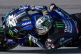 MONTMELÓ (BARCELONA).- El piloto español del equipo Monster Energy Yamaha lt;HIT gt;MotoGP lt;/HIT gt; Maverick Viñales, durante la tercera sesión de entrenamientos libres de lt;HIT gt;MotoGP lt;/HIT gt; del Gran Premio de Cataluña de Motociclismo 2020 que tiene lugar este fin de semana en el circuito de Barcelona, en Montmeló.